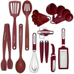 KitchenAid Classic Tool Gadget Set 17 Pcs Red New